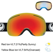 Dragon X1 Goggles 2017, Inverse-Red Ionized + Bonus Lens, medium