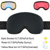 Dragon X1 Goggles 2017, Knight Rider-Dark Smoke + Bonus Lens, medium