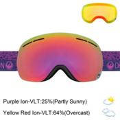 Dragon X1s Womens Goggles 2017, Stone Violet-Purple Ionized + Bonus Lens, medium