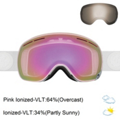 Dragon X1s Goggles 2017, Whiteout-Pink Ion + Bonus Lens, medium