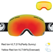 Dragon X1s Goggles 2017, Inverse-Red Ionized + Bonus Lens, medium