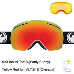 Dragon X1s Goggles 2017, Inverse-Red Ionized + Bonus Lens, 256