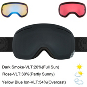 Dragon X1s Goggles 2017, Knight Rider-Dark Smoke + Bonus Lens, medium