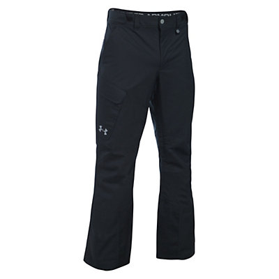Under Armour ColdGear Infrared Chutes Mens Ski Pants, Black-Graphite-Steel, viewer