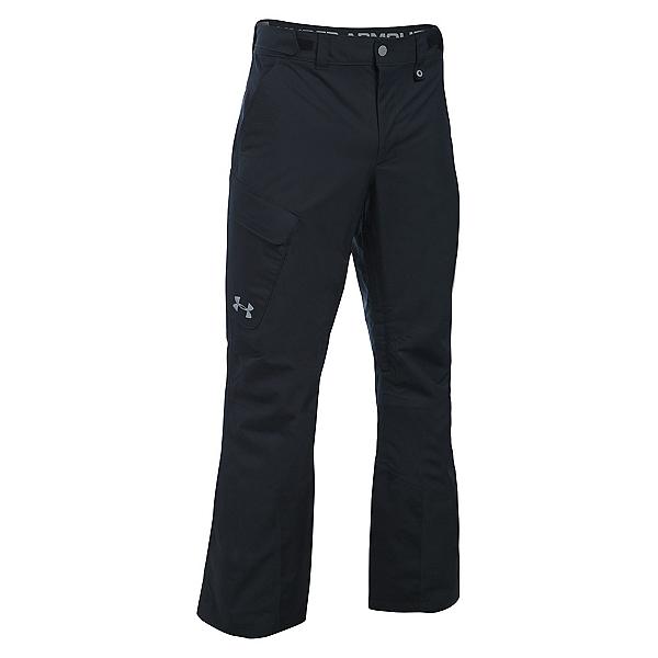 Under Armour ColdGear Infrared Chutes Shell Mens Ski Pants, Black-Graphite-Steel, 600