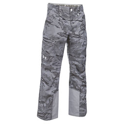 Under Armour ColdGear Infrared Chutes Shell Mens Ski Pants, Overcast Gray-Overcast Gray-Wh, 256