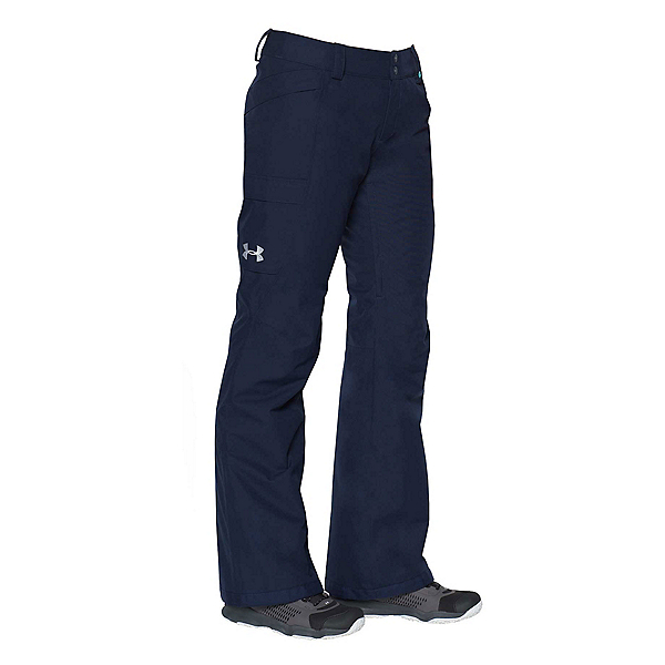 Under Armour ColdGear Infrared Chutes Womens Ski Pants, Midnight Navy-Blue Infinity, 600