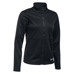 Under Armour ColdGear Infrared Softershell Womens Soft Shell Jacket, Black-Black-Glacier Gray, 256