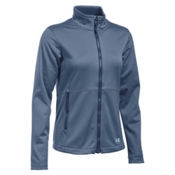 Under Armour ColdGear Infrared Softershell Womens Soft Shell Jacket, Aurora Purple-Faded Ink-Aqua Falls, medium