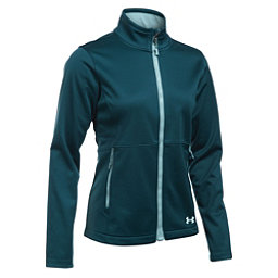 Under Armour ColdGear Infrared Softershell Womens Soft Shell Jacket, Nova Teal-Opal Green-Aqua Falls, 256
