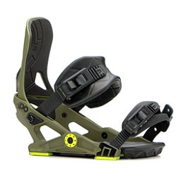 NOW IPO Snowboard Bindings, Army Green, 256