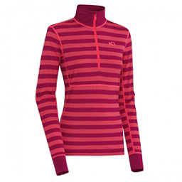 Kari Traa Ulla Half Zip Womens Long Underwear Top, Ruby, 256