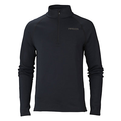 Marker Loveland 1/2 Zip Mens Long Underwear Top, Black, viewer