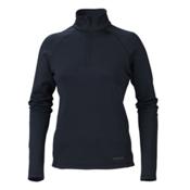 Marker Loveland 1/2 Zip Womens Long Underwear Top, Black, medium
