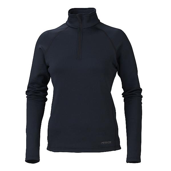 Marker Loveland 1/2 Zip Womens Long Underwear Top, Black, 600