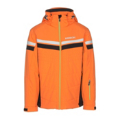 Karbon Chromium Mens Insulated Ski Jacket, Pylon-Black-Arctic White-Lime, medium