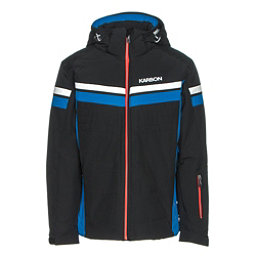 Karbon Chromium Mens Insulated Ski Jacket, Black-Olympic Blue-Arctic Whit, 256