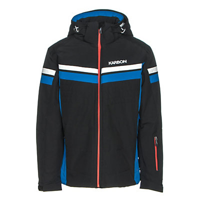 Karbon Chromium Mens Insulated Ski Jacket, Black-Olympic Blue-Arctic Whit, viewer