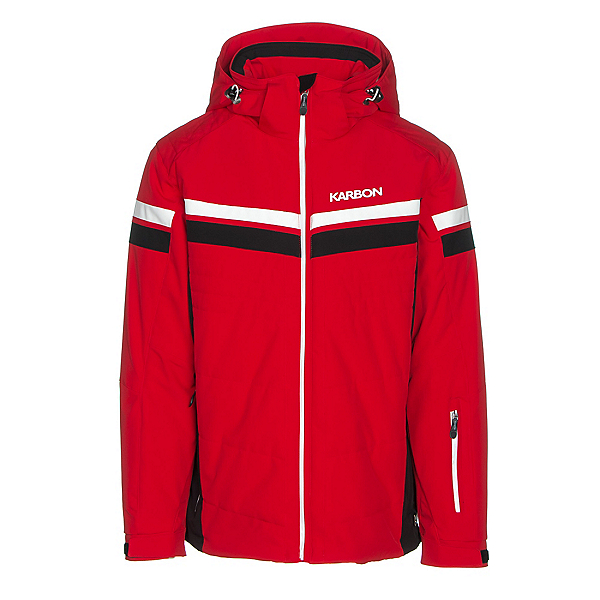 Karbon Chromium Mens Insulated Ski Jacket, Red-Black-Arctic White-Arctic, 600