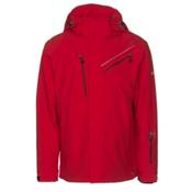Karbon Helium Mens Insulated Ski Jacket, Red-Red-Black, medium