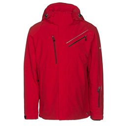 Karbon Helium Mens Insulated Ski Jacket, Red-Red-Black, 256
