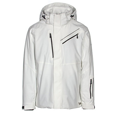 Karbon Helium Mens Insulated Ski Jacket, Arctic White-Arctic White-Blac, viewer