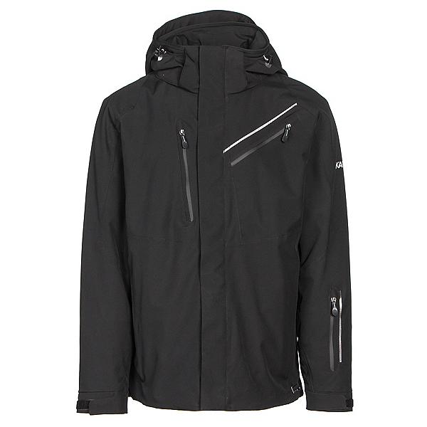 Karbon Helium Mens Insulated Ski Jacket, Black-Black-Black, 600