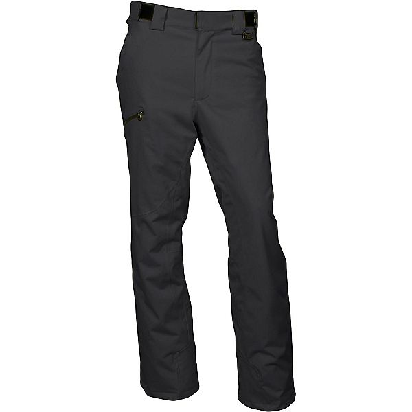 Karbon Silver Short Mens Ski Pants, Black-Black, 600