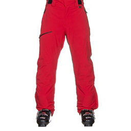 Karbon Silver Trim Mens Ski Pants, Red-Black, 256