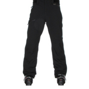Karbon Silver Trim Mens Ski Pants, Black-Black, medium