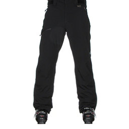 Karbon Silver Trim Mens Ski Pants, Black-Black, 256