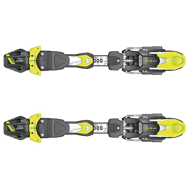 Tyrolia FreeFlex EVO 14 Ski Bindings 2017, Black-White-Flash Yellow, 600