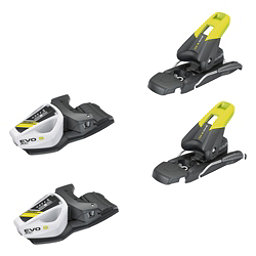 Tyrolia EVO 9 AC Junior Ski Bindings 2017, Solid Black-Flash Yellow, 256
