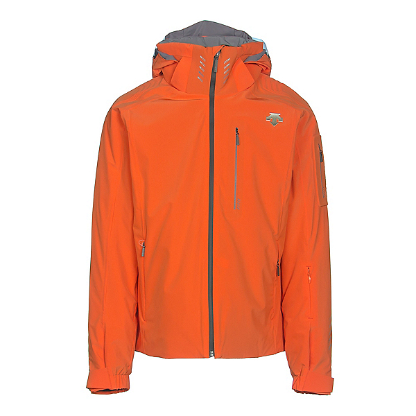 Descente Regal Mens Insulated Ski Jacket, Salamander Orange-Gray, 600
