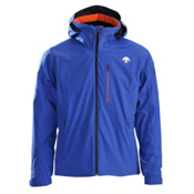 Descente Regal Mens Insulated Ski Jacket, Royal Blue-Salamander Orange, medium