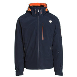 Descente Regal Mens Insulated Ski Jacket, Navy-Salamander Orange, 256