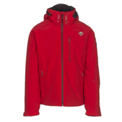 Descente Regal Mens Insulated Ski Jacket, Electric Red-Black, medium