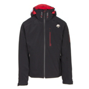 Descente Regal Mens Insulated Ski Jacket, Black-Electric Red, medium