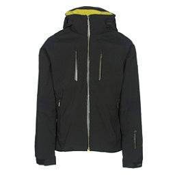 Descente Anton Mens Insulated Ski Jacket, Black-Gunmetal-Yellow, 256