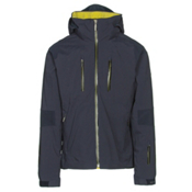 Descente Anton Mens Insulated Ski Jacket, Navy-Gunmetal-Yellow, medium