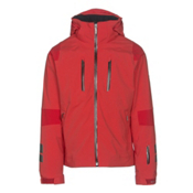 Descente Anton Mens Insulated Ski Jacket, Electric Red-Gunmetal-Black, medium