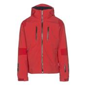 Descente Anton Mens Insulated Ski Jacket, Electric Red-Gunmetal-Black, medium