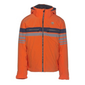 Descente Editor Mens Insulated Ski Jacket, Salamander Orange-Gray-Navy, medium