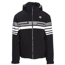 Descente Editor Mens Insulated Ski Jacket, Black-Super White-Gray, 256