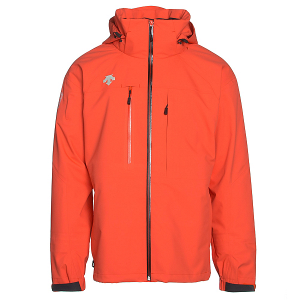 Descente Moe Mens Shell Ski Jacket, Electric Orange, 600