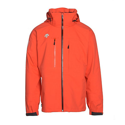 Descente Moe Mens Shell Ski Jacket, Electric Orange, viewer
