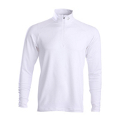 Descente Hans T-Neck Mens Mid Layer, Super White, medium