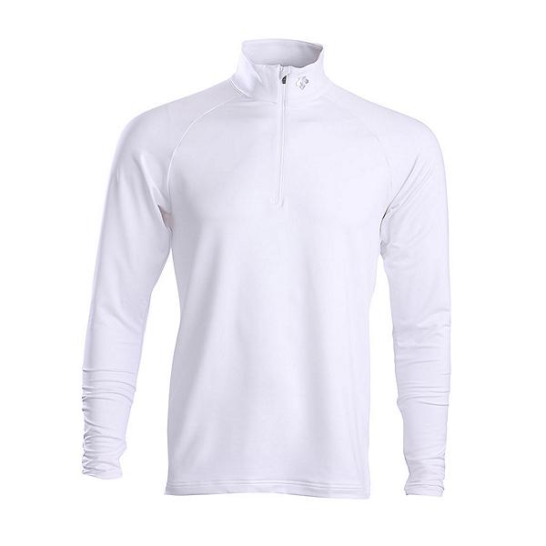 Descente Hans T-Neck Mens Mid Layer, Super White, 600