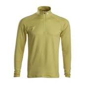 Descente Hans T-Neck Mens Mid Layer, Yellow, medium