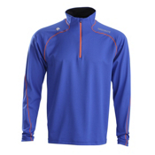 Descente Nolan T-Neck Mens Mid Layer, Royal Blue, medium